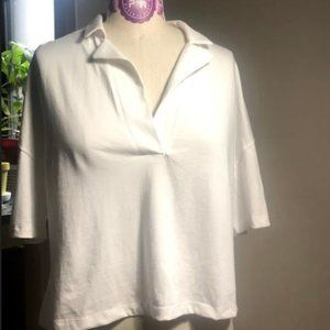 Zara Ethically Grown Cotton White  Polo